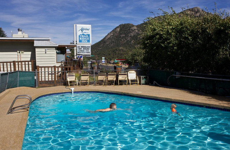 Outdoor pool at Alpine Trail Ridge Inn.