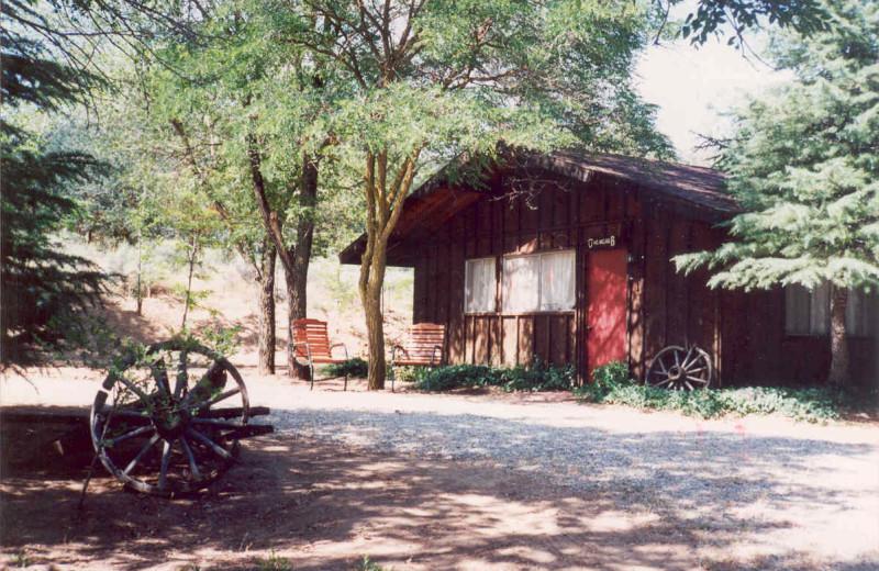 Cabin exterior at Rankin Ranch.