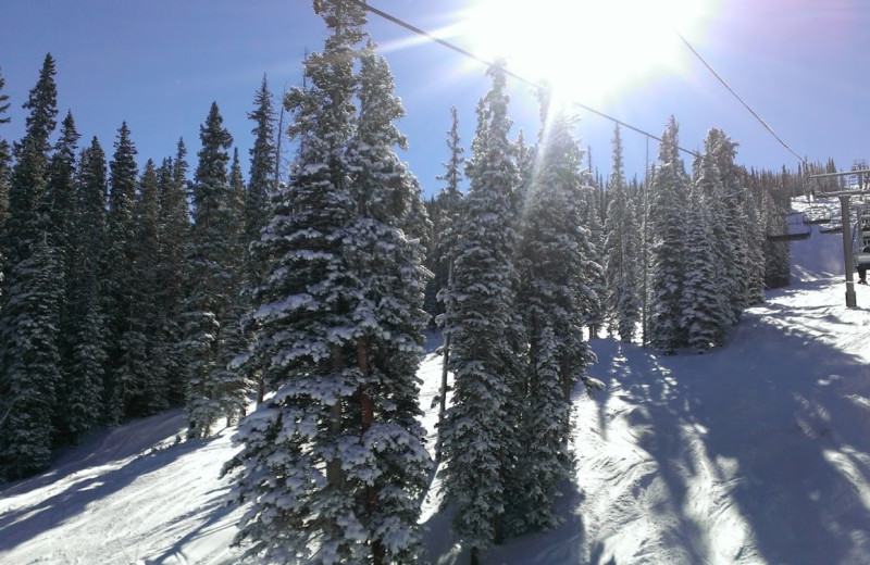 The ski slopes at SummitCove.