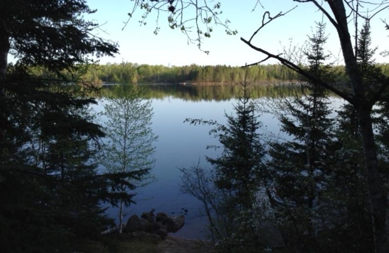 Lake view at Timber Wolf Lodge Cabins.