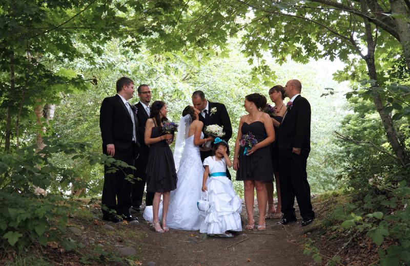 Wedding at Chateau Lake Logan.