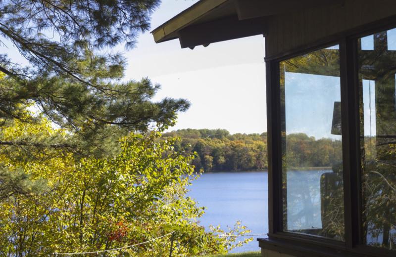 Cabin view at Five Lakes Resort.
