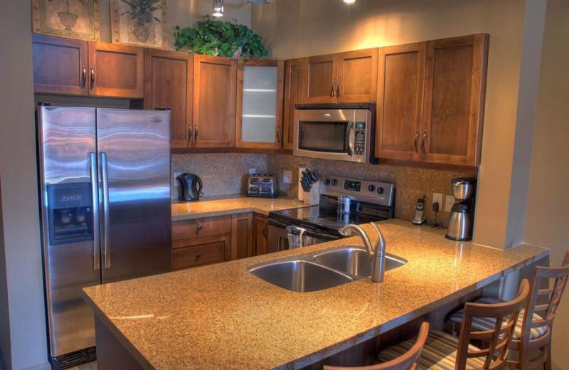 Guest kitchen at Playa Del Sol Resort.