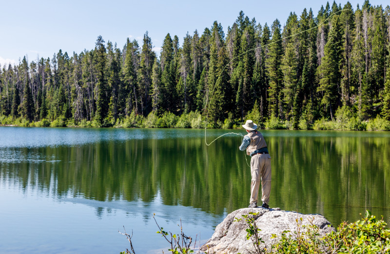 Fishing near Wyoming Inn of Jackson Hole.