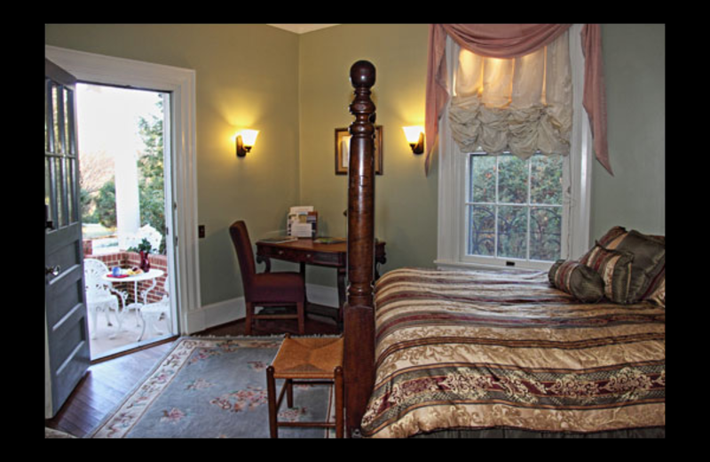 Guest room at Fountain Hall.