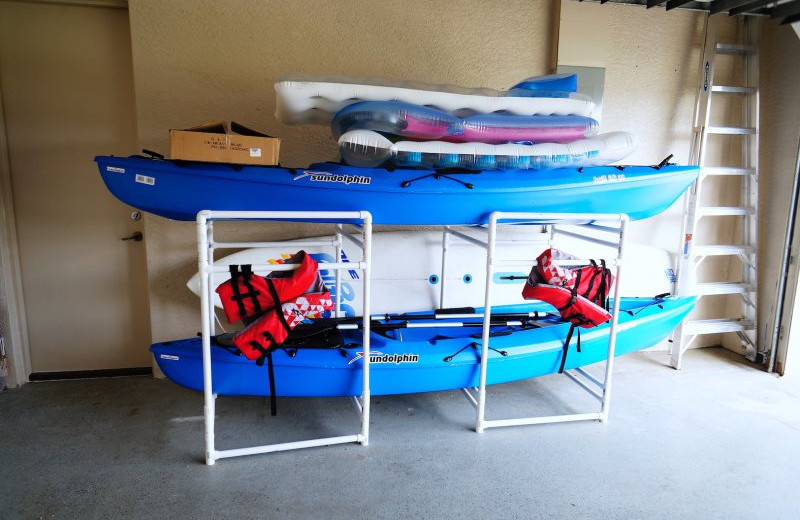 Rental kayaks at MHB Property Management.