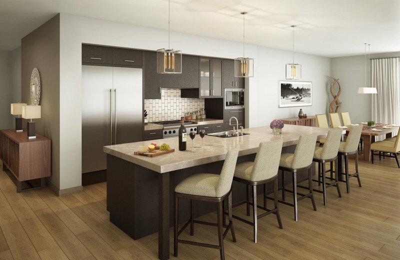 Rental kitchen at Stein Eriksen Residences.