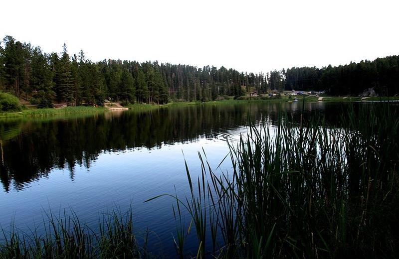 Lake near Rushmore Express Inn & Family Suite.