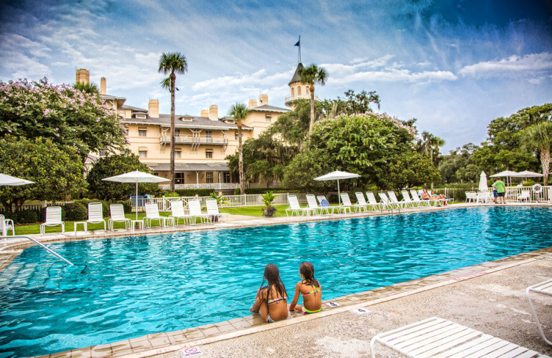 Outdoor pool at Jekyll Island Club Hotel.
