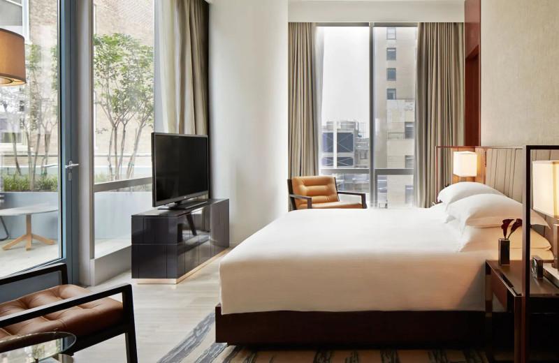 Guest room at Park Hyatt New York.
