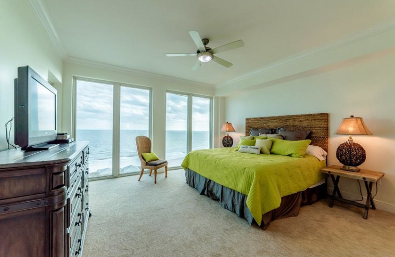 Rental bedroom at Sugar Sands Realty & Management.