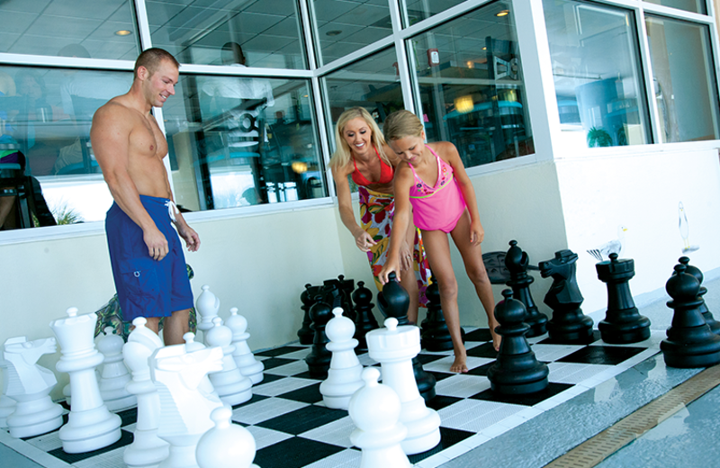 Giant chess at Paradise Resort.