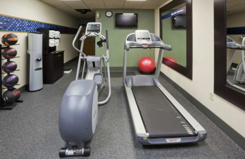Fitness room at Hampton Inn Duluth.