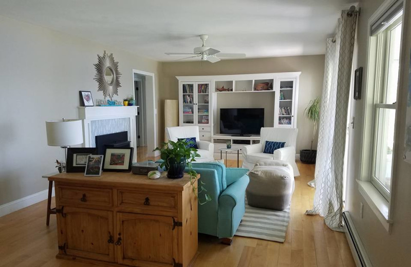 Rental living room at Vacation Cottages.
