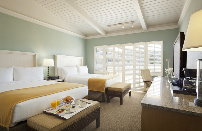 Guest room at Tiburon Lodge and Conference Center.