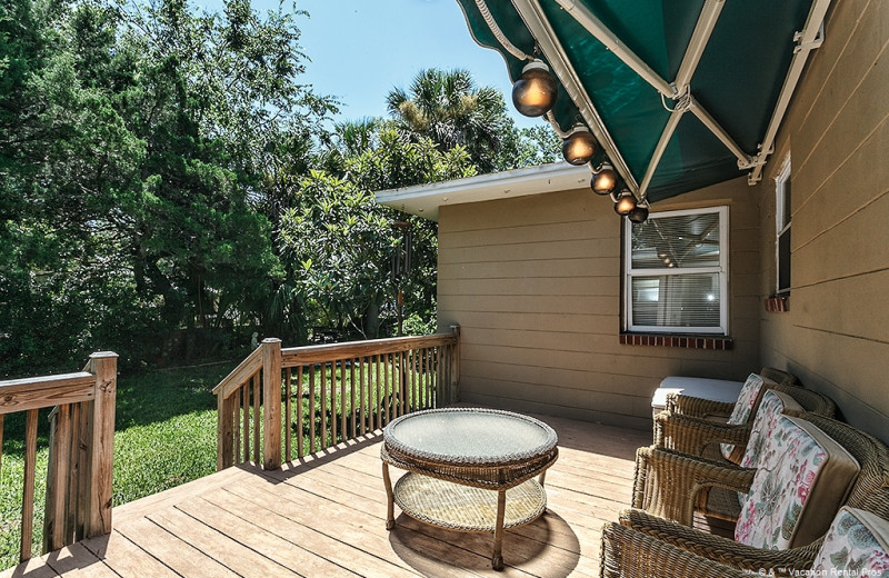 Rental deck at Vacation Rental Pros - St. Augustine.