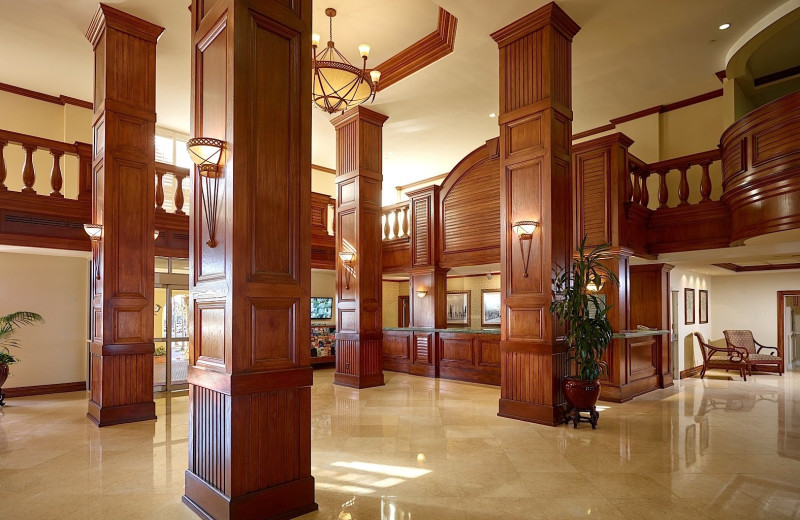 Lobby at Plaza Resort & Spa.
