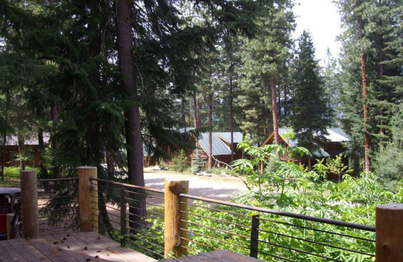 Deck view at Timberline Meadows Lodges.