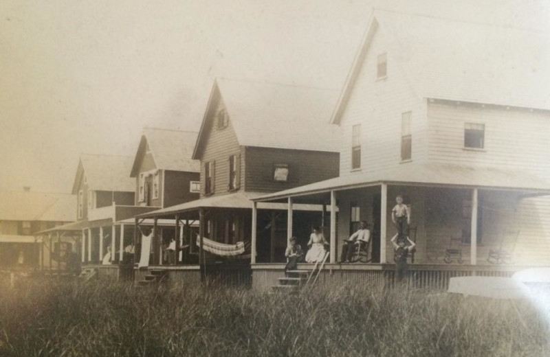 Historical photo of Hawk's Nest Beach.