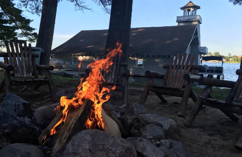 Bonfire at The Beacons of Minocqua.