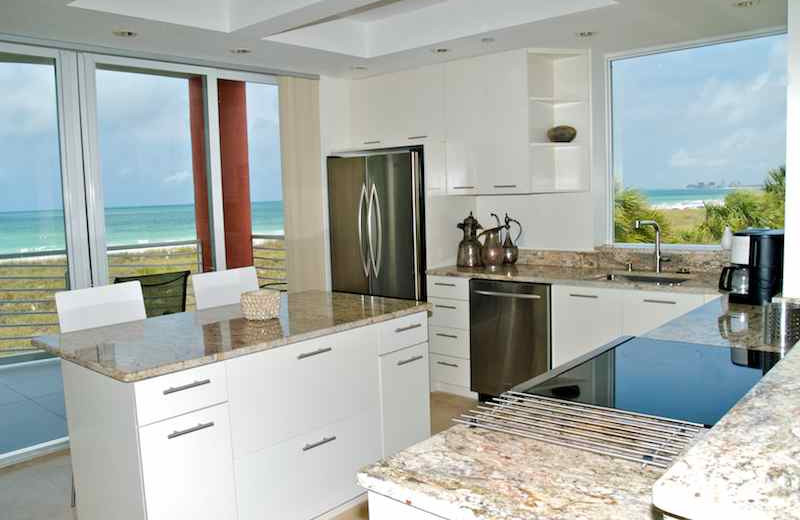 Vacation rental kitchen at Resort Rentals.