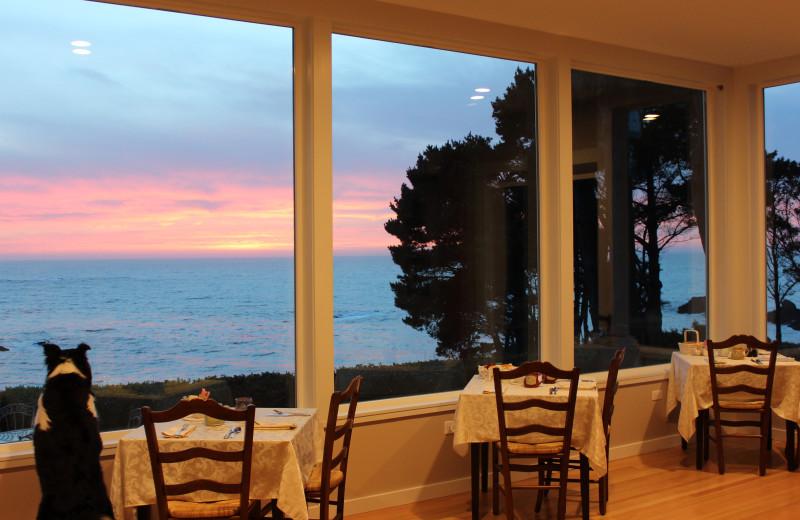 Dining at Agate Cove Inn.