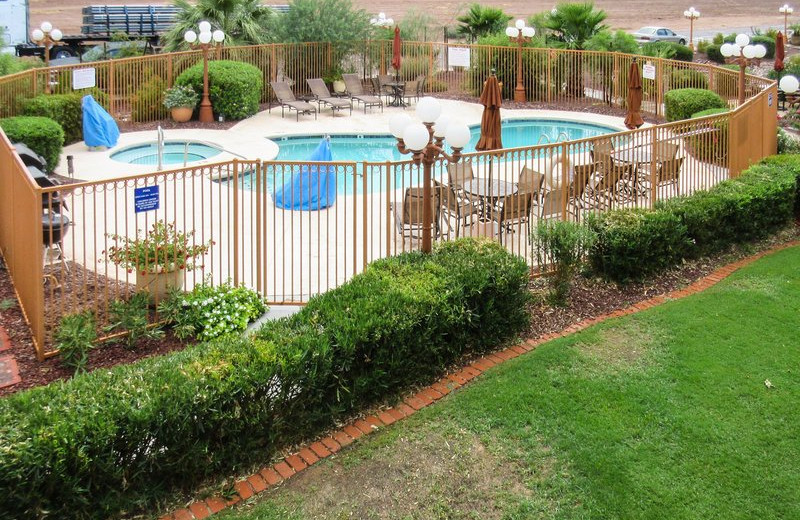 Outdoor pool at Quality Inn Casa Grande.