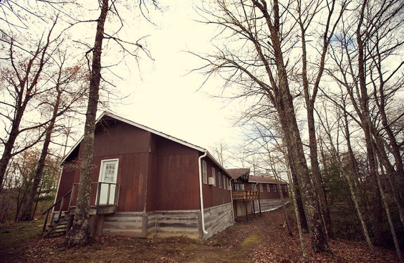 Exterior view of Pinecrest Camp Lodge.