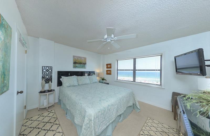 Rental bedroom at Coastal Properties.