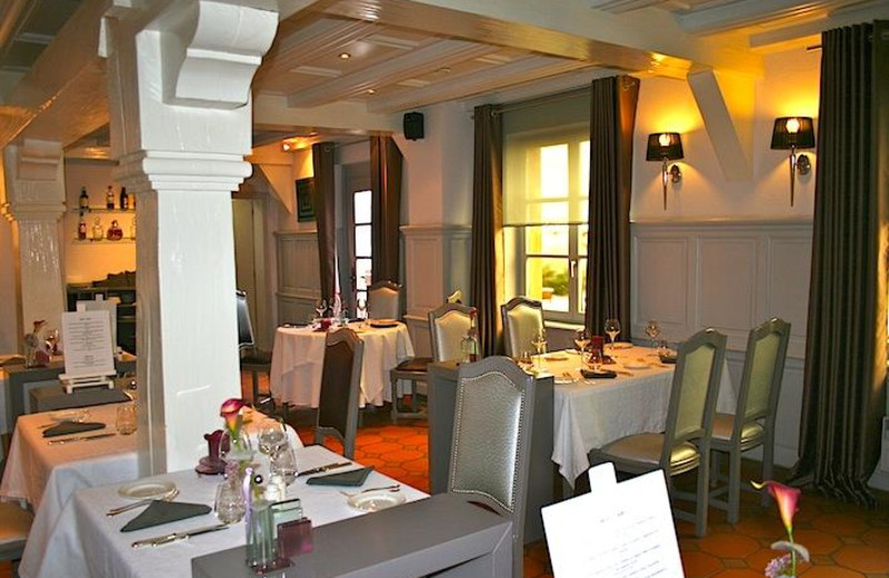 Dining at Auberge de la Bruche.
