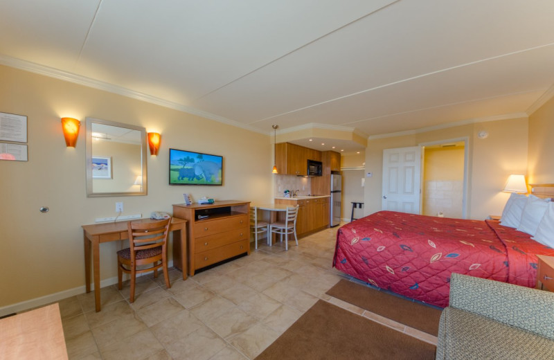Guest room at Fleur De Lis Beach Resort.