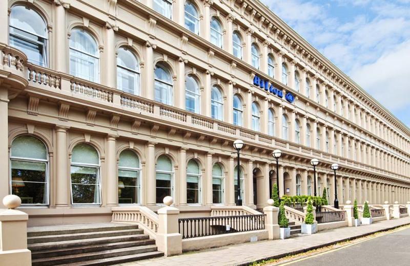 Exterior view of Hilton Glasgow Grosvenor Hotel.