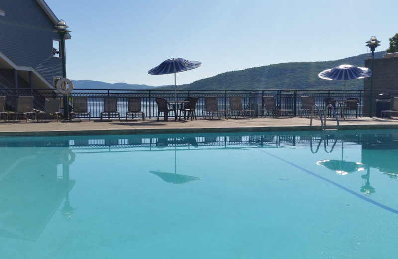 Outdoor pool at Surfside on the Lake Hotel & Suites.