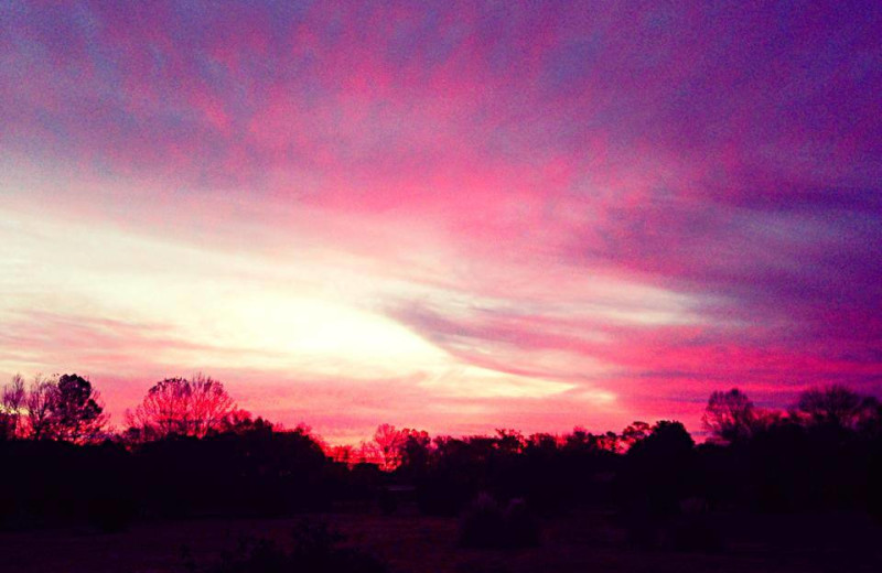 Sunset at The Abbe House Inn.