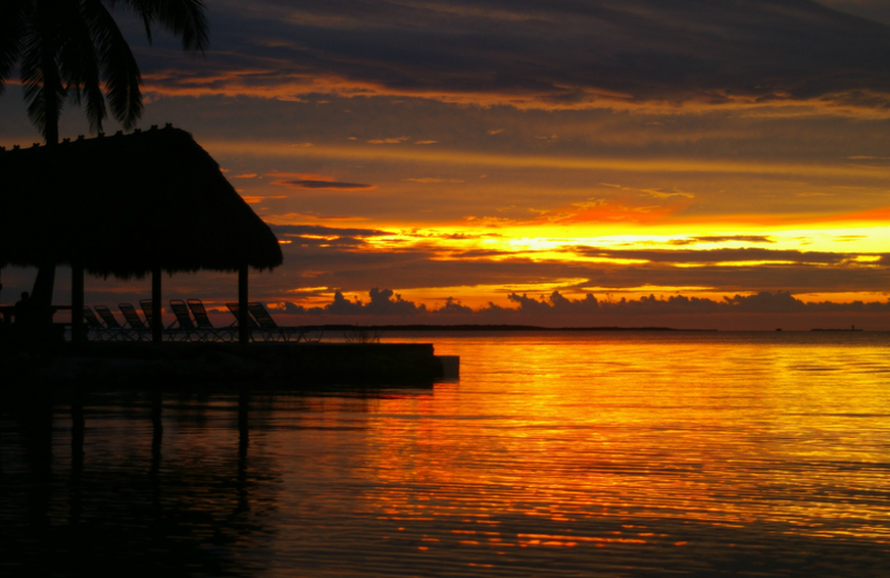 Sunset at Rock Reef Resort.