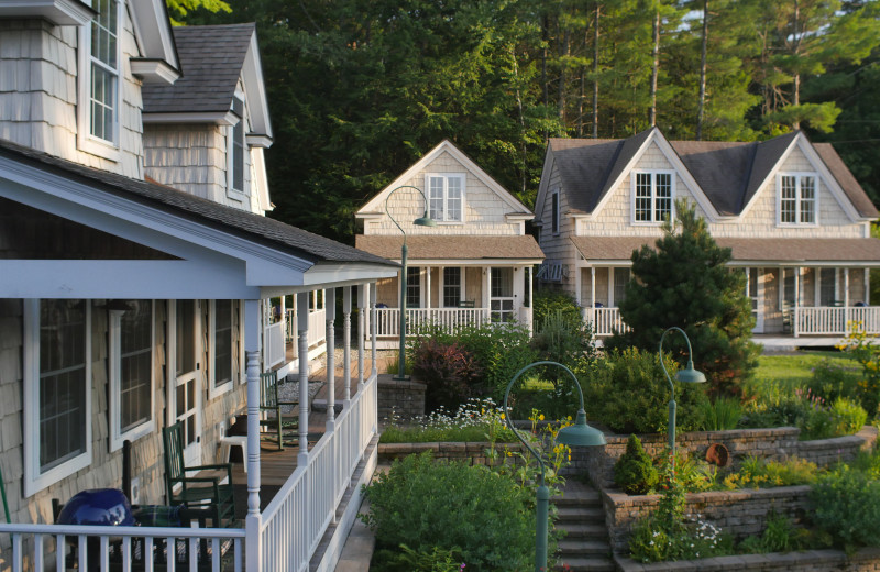 Cottage exterior at Sunapee Harbor Cottages.