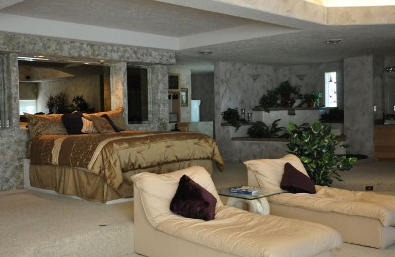 Guest room at Dicks Resort.