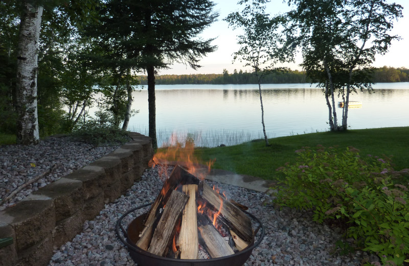 Fire pit at River Point Resort & Outfitting Co.
