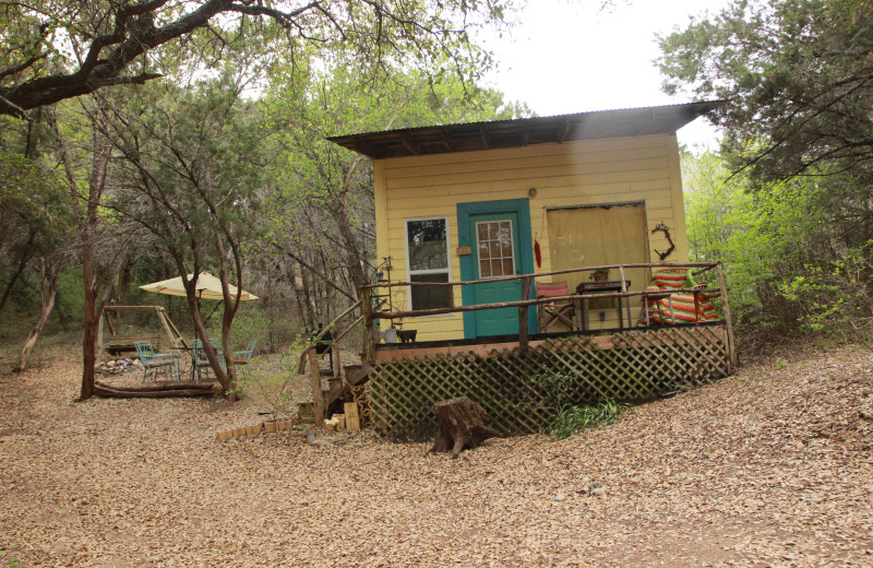 Exterior view of Creekside Camp & Cabins.
