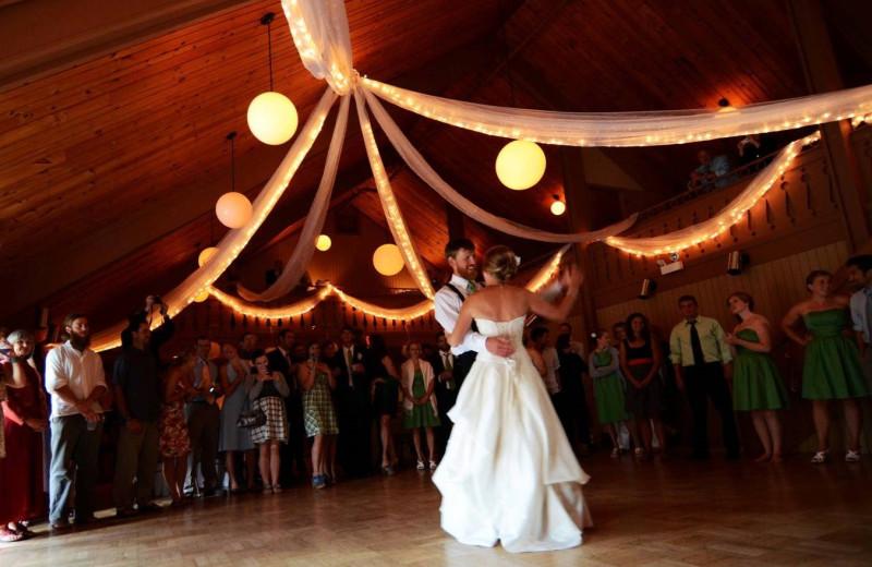 Wedding dance at Lutsen Resort on Lake Superior.