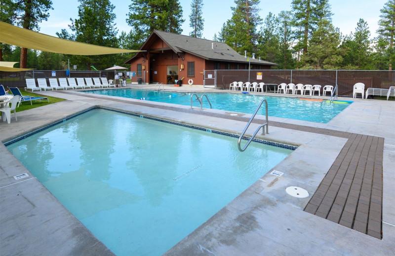 Rental pool at Sisters Vacation Rentals.