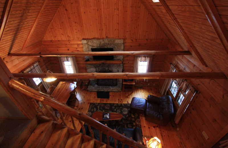 Chalet interior view at Old Man's Cave Chalets.