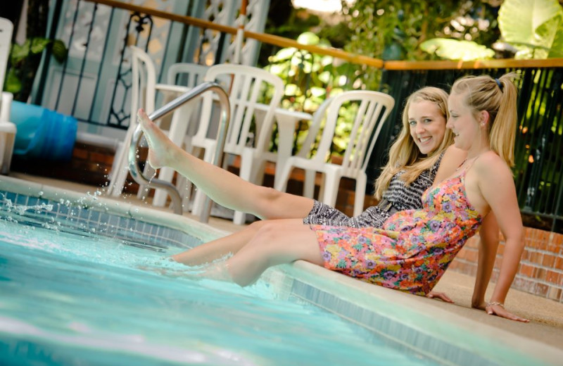 Tropical courtyard pool at Cairn Croft Best Western Plus Hotel.