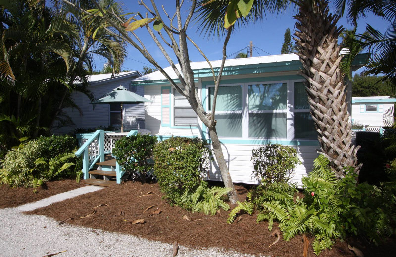 Cottage exterior at Gulf Breeze Cottages.