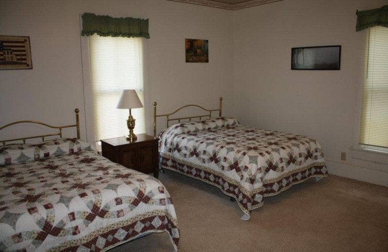 Guest bedroom at Spring Valley Golf and Lodge.
