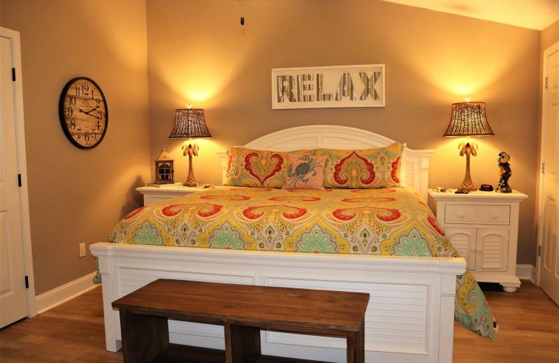 Rental bedroom at Sunnyside Resort Rental Company.