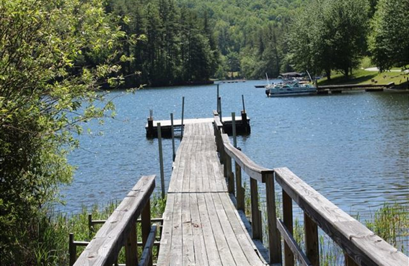 Rental dock at Mountain Lake Rentals.