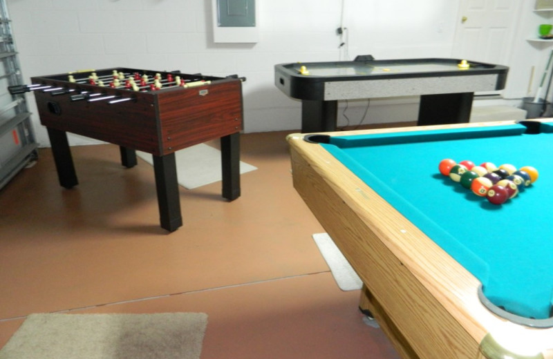 Rental game room at Florida Palms Vacation Villas