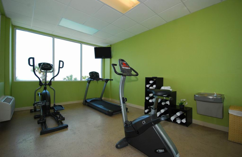Fitness room at Legacy By The Sea.