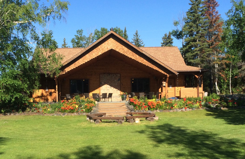 Exterior view of Bakers Narrows Lodge.